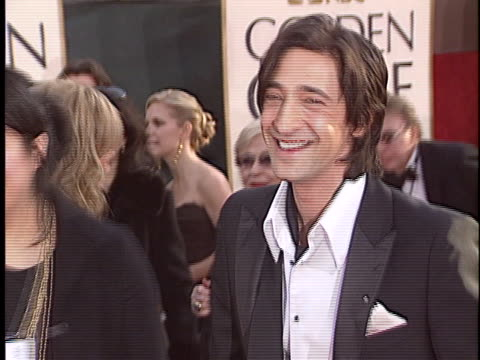 vidéos et rushes de adrien brody at the golden globes 2006 at beverly hilton hotel,beverly hills in beverly hills, ca. - the beverly hilton hotel