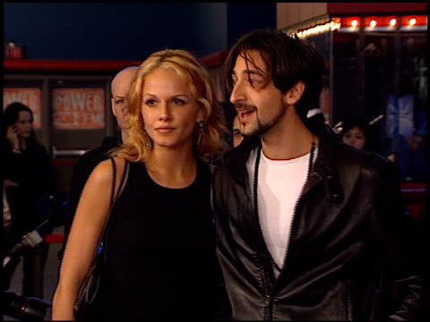 adrien brody at the 'iron monkey' premiere at hollywood galaxy theater in hollywood, california on october 10, 2001. - adrien brody stock videos & royalty-free footage