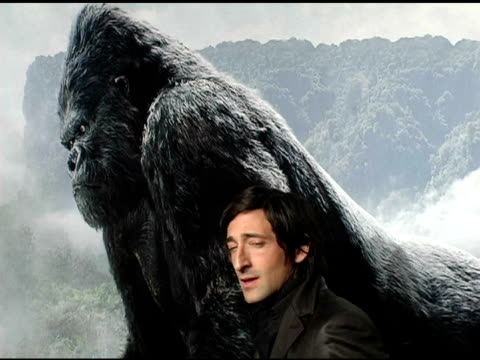 Adrien Brody at the 'King Kong' New York Premiere at Loews EWalk and AMC Empire Cinemas in New York New York on December 5 2005