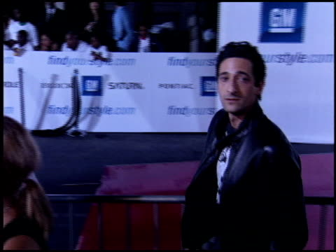 adrien brody at the rolling 24 deep gm all car showdown at paramount studios in hollywood, california on july 12, 2005. - adrien brody stock videos & royalty-free footage