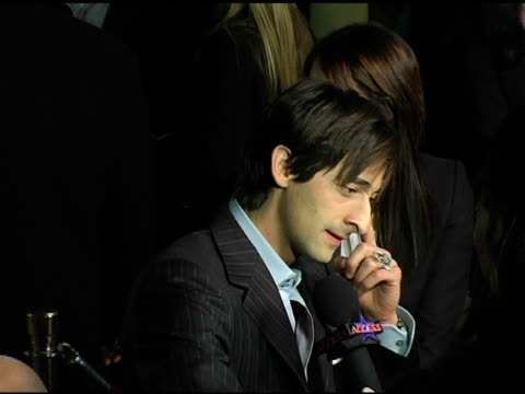 adrien brody at the special screening of 'the jacket' at the pacific arclight theatre in los angeles, california on february 28, 2005. - adrien brody stock videos & royalty-free footage