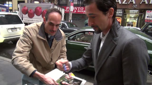 adrien brody at the 'today' show studio in new york, ny, on 3/16/2012 - adrien brody stock videos & royalty-free footage