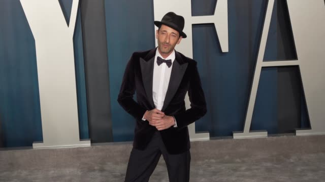 adrien brody at vanity fair oscar party at wallis annenberg center for the performing arts on february 9, 2020 in beverly hills, california. - adrien brody stock videos & royalty-free footage