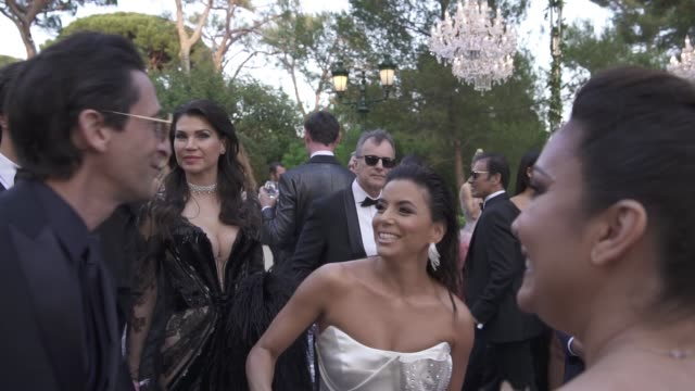adrien brody, eva longoria at amfar gala cannes 2019 on may 17, 2019 in cap d'antibes, france. - adrien brody stock videos & royalty-free footage