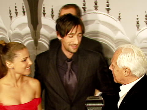 adrien brody, giorgio armani at the giorgio armani celebrates 'the oscars' with exclusive prive show at beverly hills california. - adrien brody stock videos & royalty-free footage