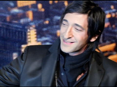 adrien brody jewelry detail at the 'king kong' new york premiere at loews e-walk and amc empire cinemas in new york, new york on december 5, 2005. - adrien brody stock videos & royalty-free footage