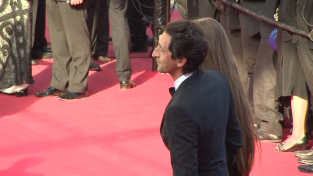 Adrien Brody Lara Lieto at Closing Ceremony / 'A Fistful of Dollars' Red Carpet at Palais des Festivals on May 24 2014 in Cannes France