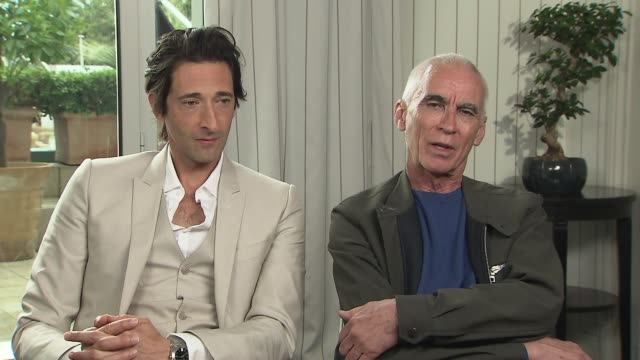 adrien brody & lee tamahori on the time compression of history at the announcement of the new film production called 'emperor' at majestic hotel on... - majestic stock videos & royalty-free footage