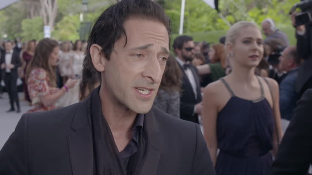 adrien brody on the importance of amfar, on showing up for a good cause at amfar gala cannes 2017 at hotel du cap-eden-roc on may 25, 2017 in cap... - adrien brody stock videos & royalty-free footage