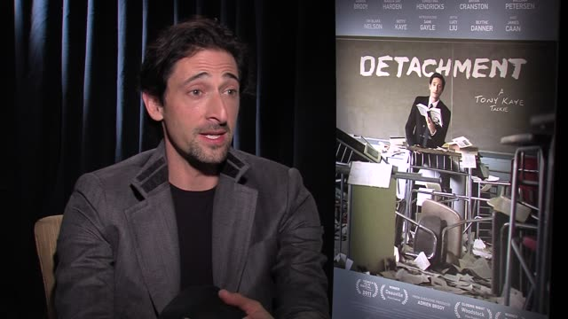 adrien brody on what it means that this film has received so many accolades at detachment press junket on 3/6/2012 in new york, ny, united states. - adrien brody stock videos & royalty-free footage