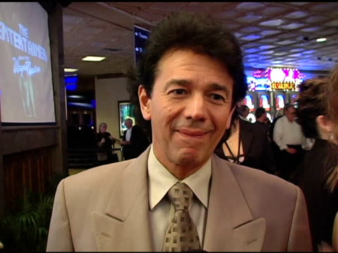 adrien zmed on the las vegas hilton and singing in vegas at the 'barry manilow: music and passion' opening night at the las vegas hilton hotel in las... - ラスベガスヒルトン点の映像素材/bロール