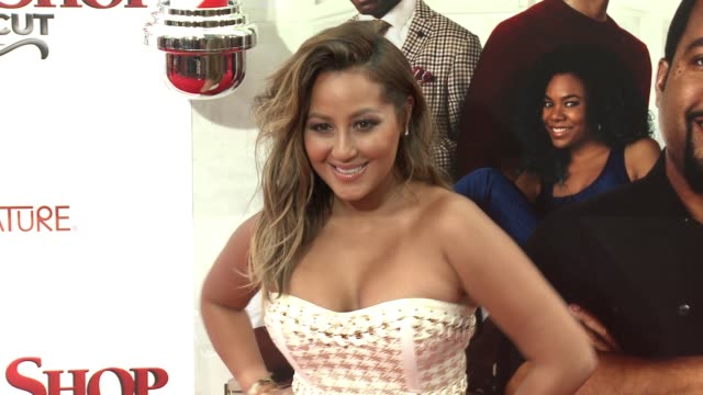 stockvideo's en b-roll-footage met adrienne bailon at barbershop the next cut los angeles premiere at tcl chinese theatre on april 06 2016 in hollywood california - tcl chinese theatre