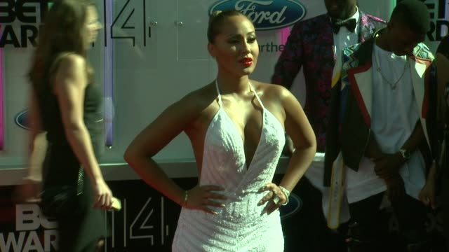 adrienne bailon at the 2014 bet awards on june 29 2014 in los angeles california - bet awards stock videos and b-roll footage