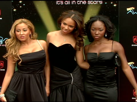 3lw adrienne bailon kiely williams and naturi naughton at the 2006 bet awards arrivals at the shrine auditorium in los angeles california on june 27... - black entertainment television stock videos & royalty-free footage