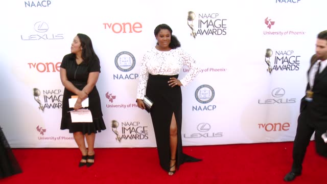 stockvideo's en b-roll-footage met adrienne c moore at the 46th annual naacp image awards arrivals at pasadena civic auditorium on february 06 2015 in pasadena california - pasadena civic auditorium
