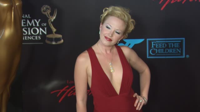 adrienne frantz at the 37th annual daytime emmy awards at las vegas nv - annual daytime emmy awards stock videos & royalty-free footage