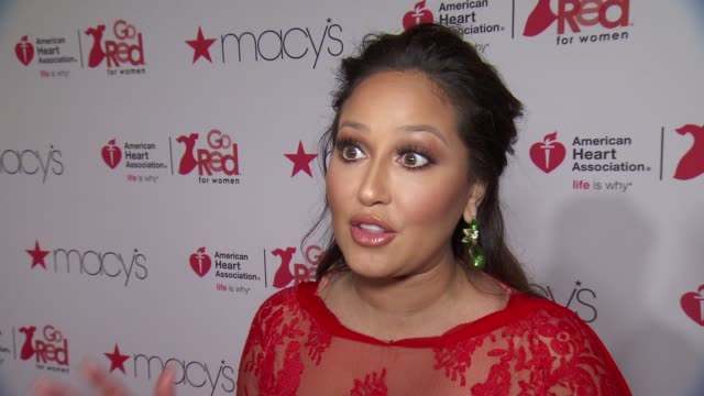 adrienne houghton on her red dress at the american heart association's go red for women red dress collection 2018 presented by macy's at hammerstein... - dress stock videos & royalty-free footage