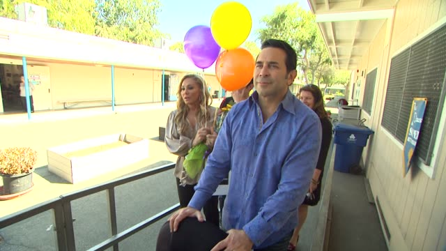 adrienne maloof dr paul nassif at the officemax's 'a day made better' school advocacy campaign with adrienne maloof and dr paul nassif at sherman... - sherman oaks stock videos & royalty-free footage