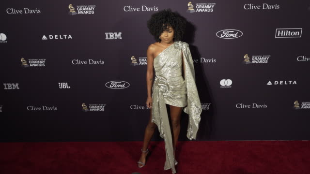 adrienne warren at the recording academy and clive davis' 2020 pre-grammy gala at the beverly hilton hotel on january 25, 2020 in beverly hills,... - the beverly hilton hotel stock videos & royalty-free footage