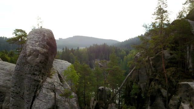 adrspach teplice rocks - mesa stock videos and b-roll footage