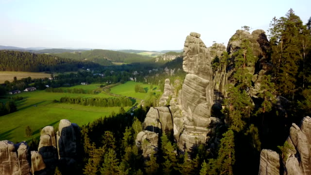 adrspach teplice rocks - czech republic stock videos & royalty-free footage