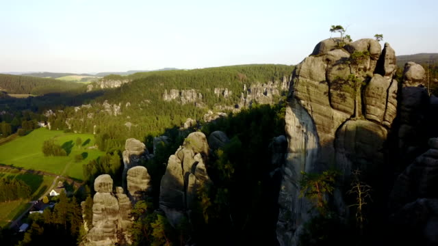 adrspach teplice rocks - crag stock videos and b-roll footage