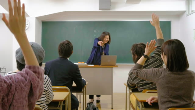 adult education class in japan - japanese culture stock videos & royalty-free footage
