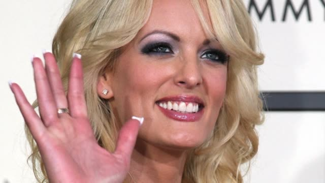 adult film star stormy daniels thanks michael cohen for testifying about the hush money payments she received to keep quiet about an alleged affair... - stormy daniels video bildbanksvideor och videomaterial från bakom kulisserna