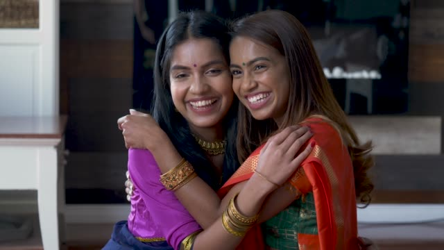 adult indian sisters spending time with each other - religious celebration stock videos and b-roll footage