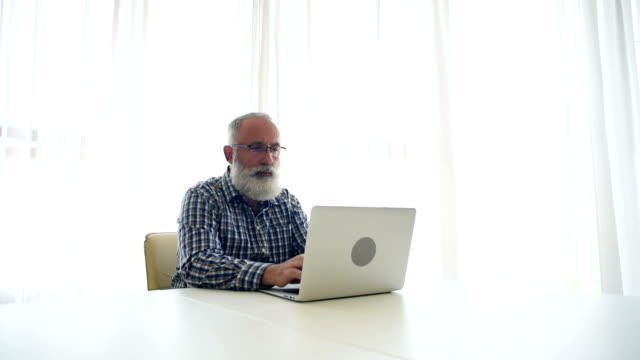 adult senior businessman  in the office - beard stock videos & royalty-free footage