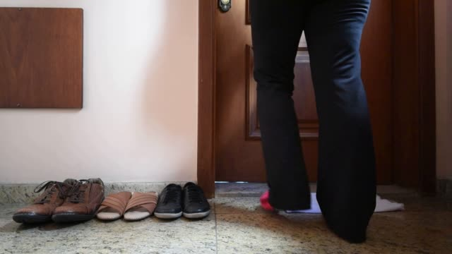 adult woman leaving your shoes out - slipper stock videos & royalty-free footage