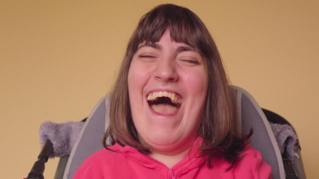 adult women with cerebral palsy - cerebral palsy stock videos & royalty-free footage