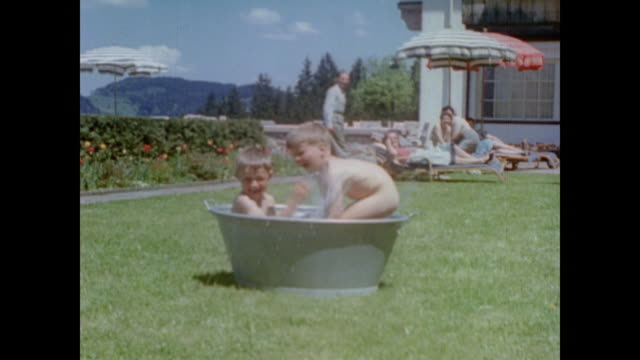 vídeos de stock, filmes e b-roll de from eva braun's home movie collection - nu