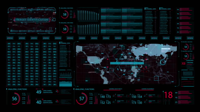 HUD Advance motion graphic futuristic user interface head up display