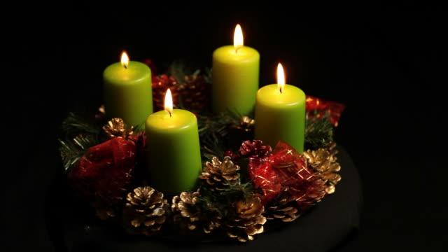 advent wreath adventskranz - advent stock videos & royalty-free footage