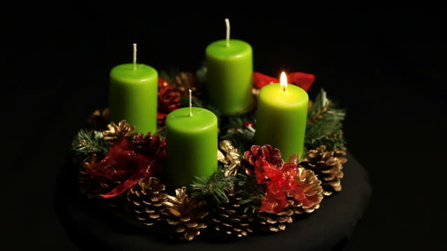 advent wreath - advent stock videos & royalty-free footage