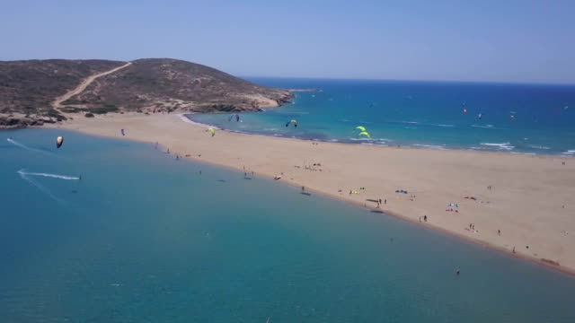 adventure holidays - rhodes dodecanese islands stock videos & royalty-free footage