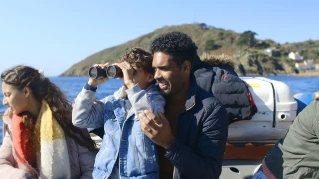 adventure on the sea - binoculars stock videos & royalty-free footage