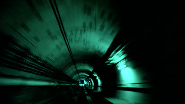 adventure through horror tunnel - tunnel stock videos & royalty-free footage