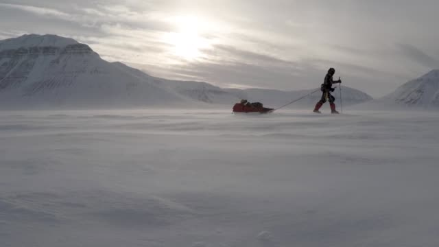 adventurer, 26 year-old lieutenant scott sears reaches record breaking 1130 km solo trek across antarctica, arriving at the south pole on christmas... - south pole stock videos & royalty-free footage