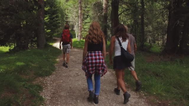 vídeos de stock, filmes e b-roll de aventuras em dolomitas: família unida - cabelo ruivo