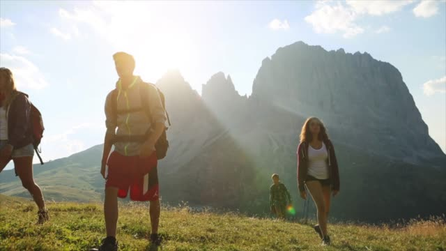 Adventures on the Dolomites: teenagers with dog