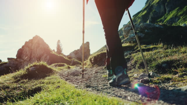 Adventures on the mountain: women hiking together