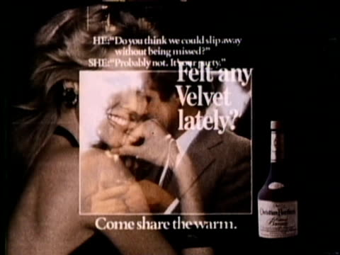 1986 MONTAGE Advertisement against alcohol, cigarettes and drugs, USA, AUDIO