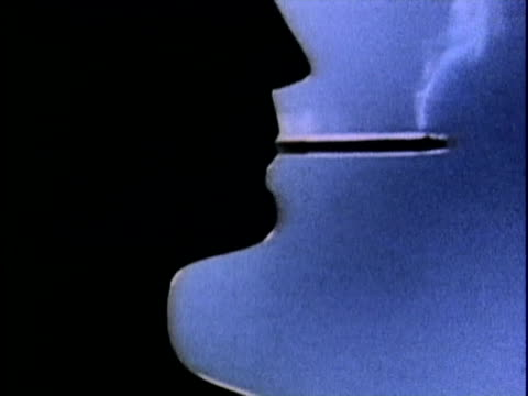 1986 montage advertisement against smoking cigarettes, usa, audio - nikotin stock-videos und b-roll-filmmaterial