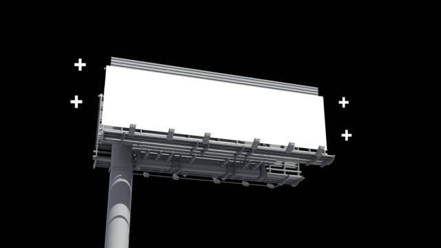 vídeos y material grabado en eventos de stock de publicidad en vallas publicitarias - señal de circulación