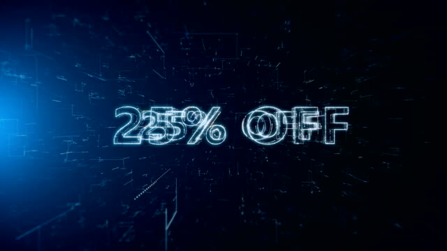 advertisement text banner 25 percent off - capital letter stock videos and b-roll footage
