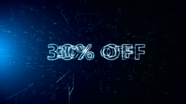 advertisement text banner 30 percent off - capital letter stock videos & royalty-free footage