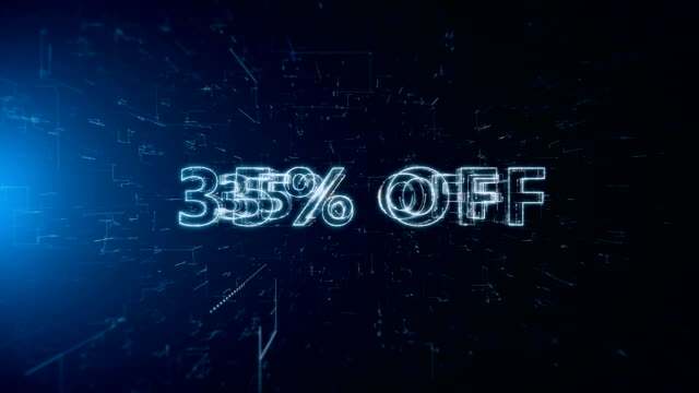 advertisement text banner 35 percent off - capital letter stock videos & royalty-free footage