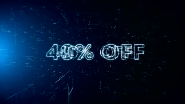 advertisement text banner 40 percent off - capital letter stock videos & royalty-free footage